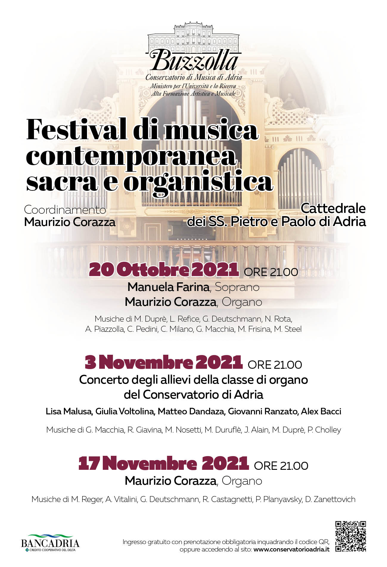 Festival di musica contemporanea sacra ed organistica