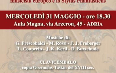 31 Maggio 2017 ore 18:30, Concerto per clavicembalo e organo