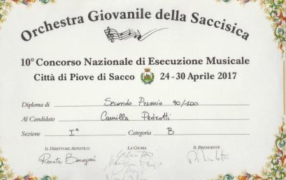 Camilla Pedrotti – 2° Premio Concorso Nazionale di esecuzione musicale Città di Piove di Sacco – aprile 2017