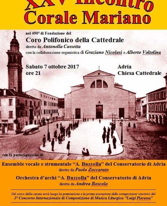 7 ottobre 2017 – ore 21.00 Chiesa Cattedrale Adria