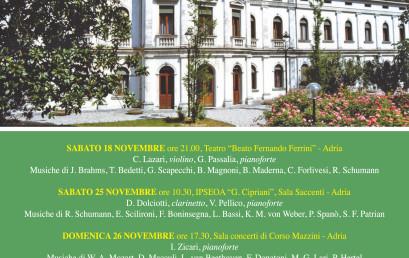 """18 novembre-10 dicembre 2017 – Festival """"Incontri musicali adriesi"""""""