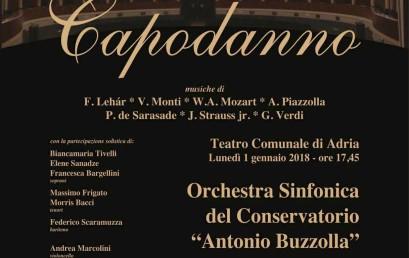 Concerto di Capodanno, 1 Gennaio 2018 ore 17.45