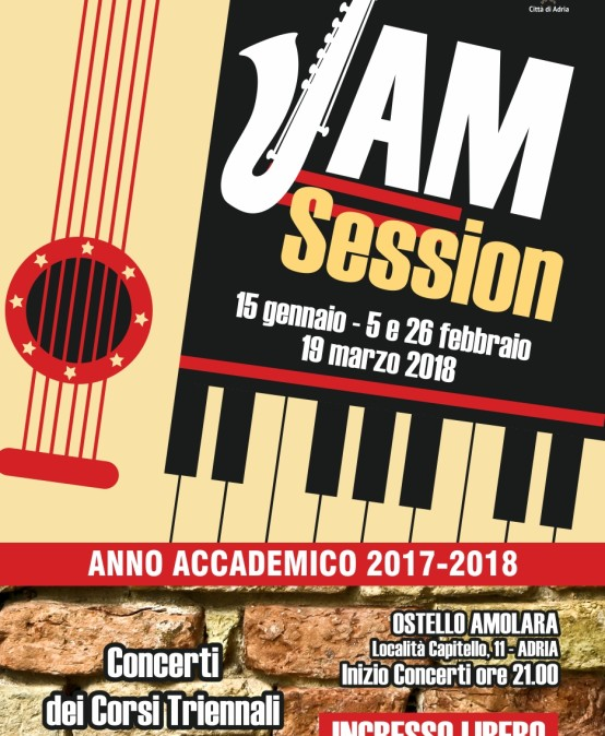 Jam Session – 15 gennaio, 5 e 26 febbraio, 19 marzo …