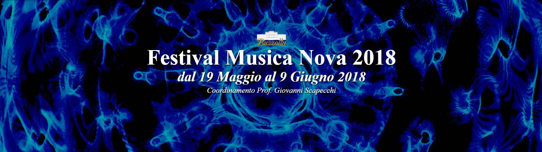 19 Maggio – 9 Giugno 2018, Festival Musica Nova 2018 (calendario generale)