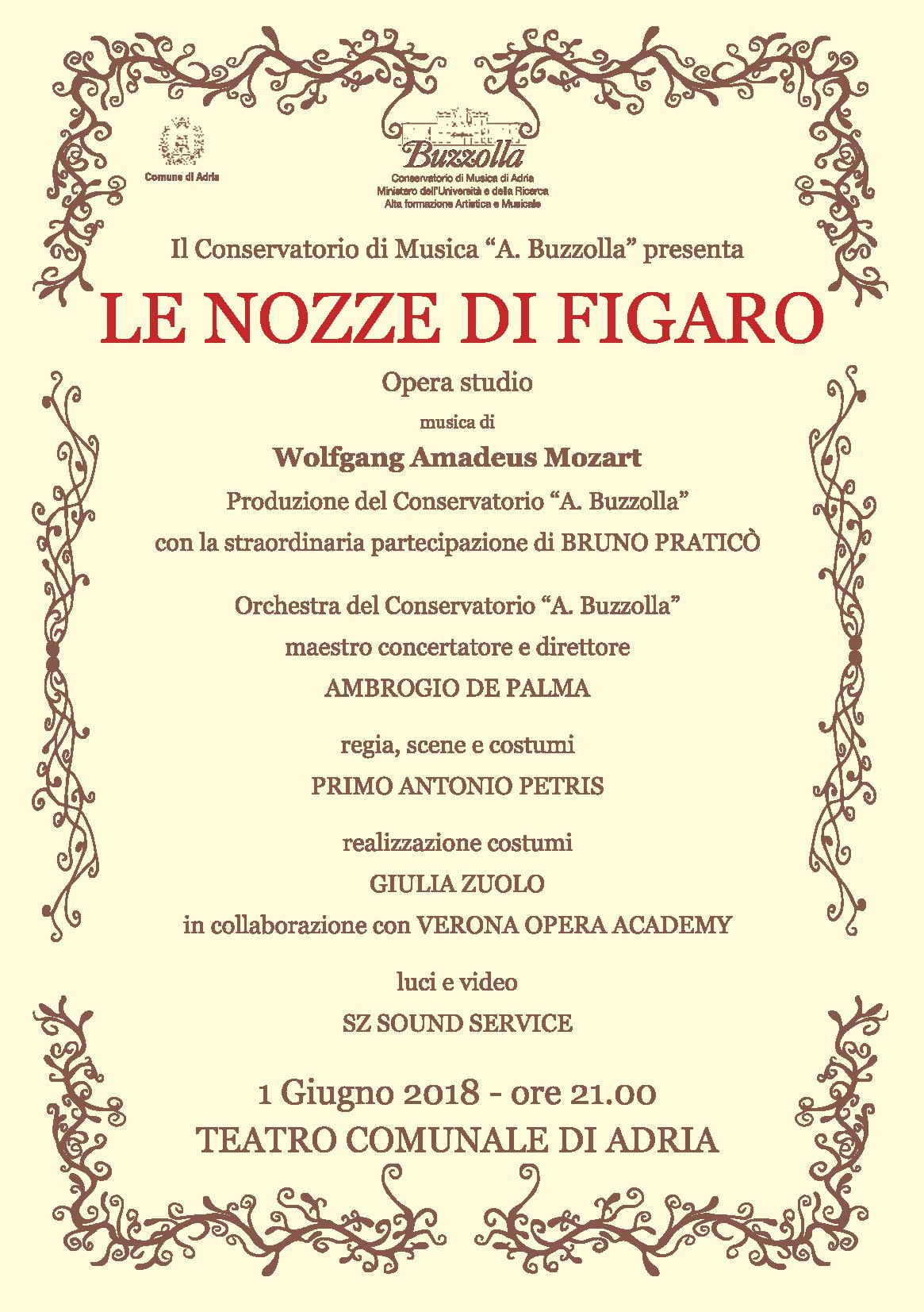 1 giugno 2018 – Le Nozze di Figaro – Teatro Comunale, Adria