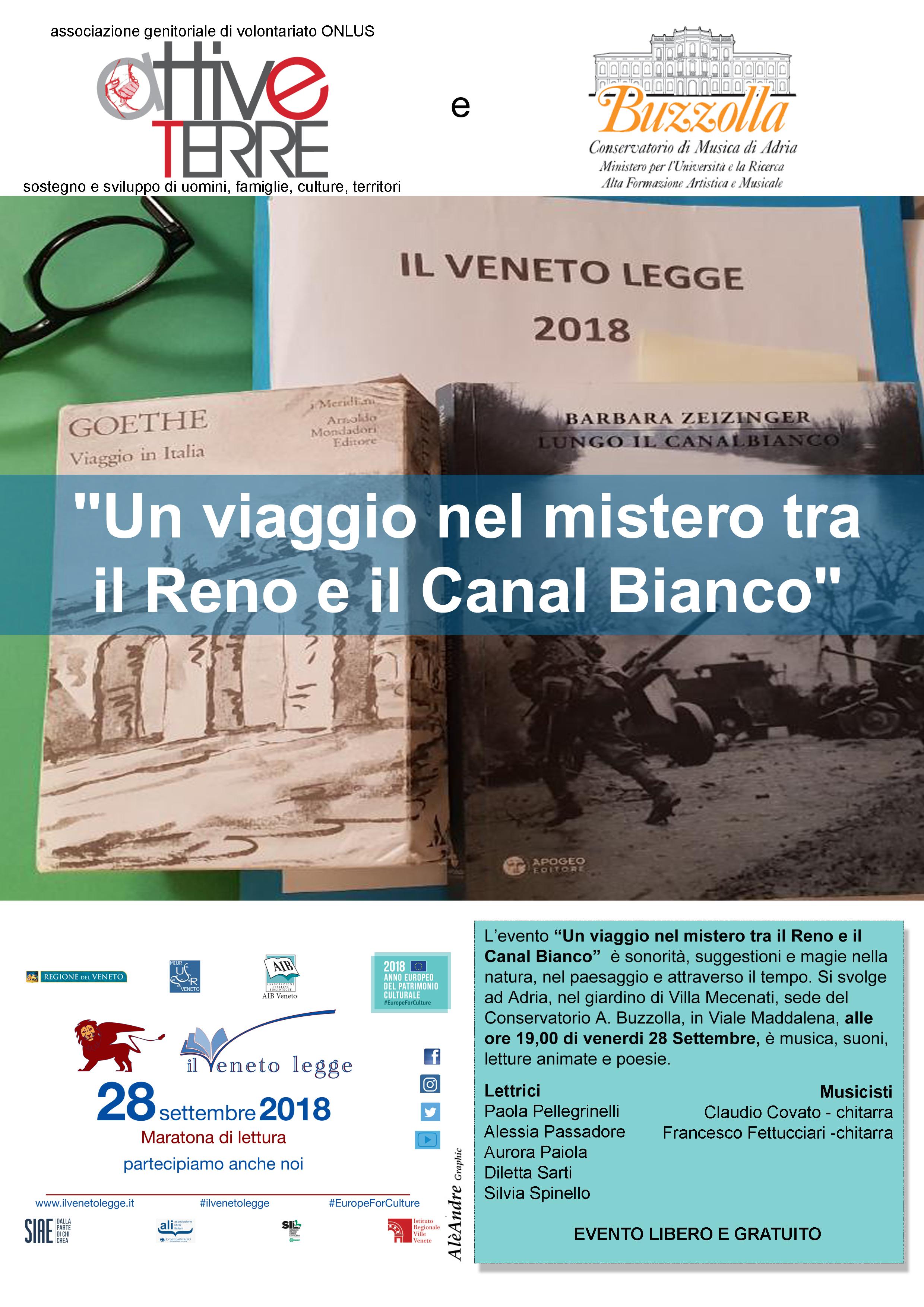 28 settembre 2018, ore 19.00 Giardino di Villa Mecenati – Il Veneto Legge