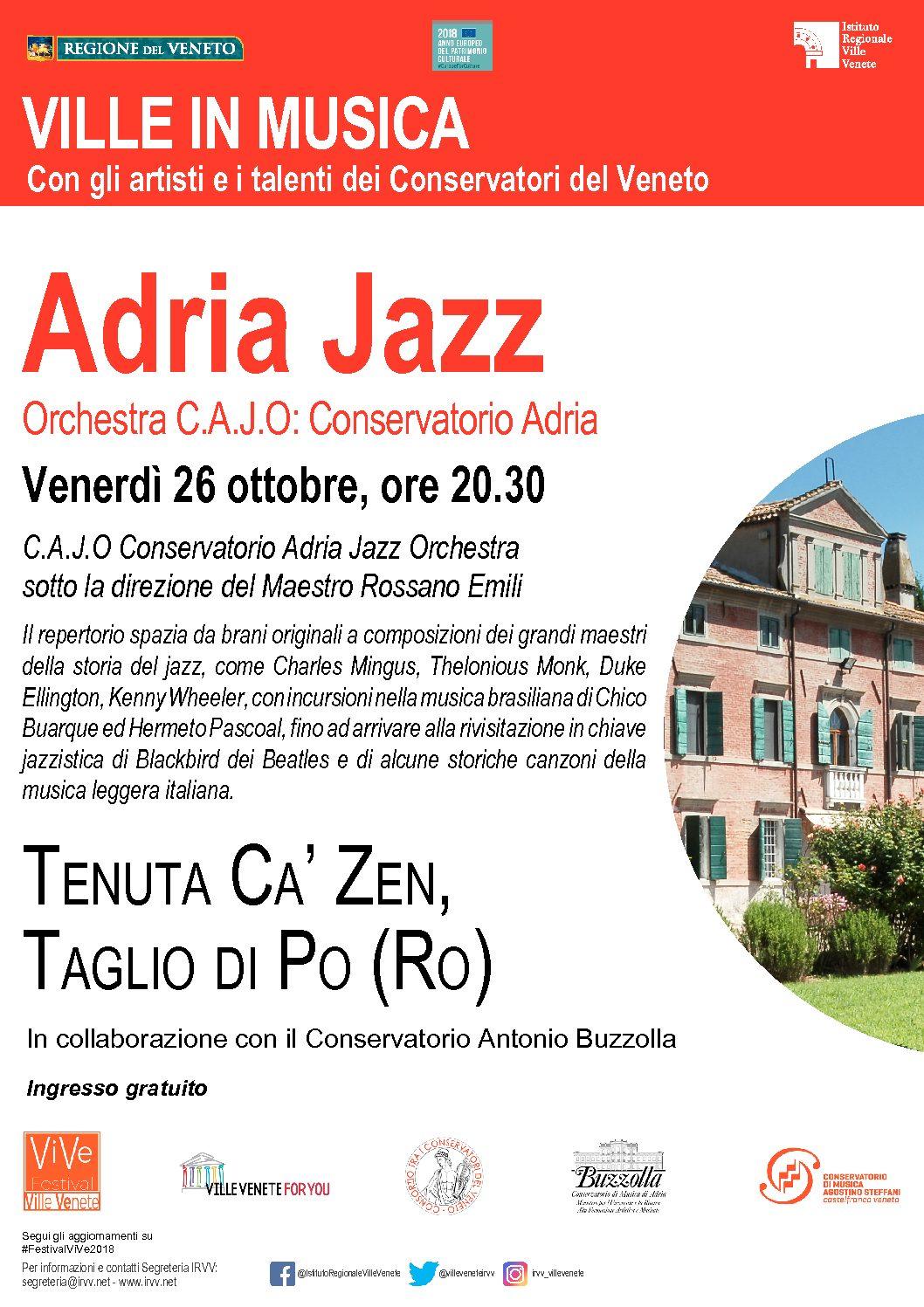 26 ottobre 2018 ore 20.30 – Ville Venete in musica – Concerto C.A.J.O.