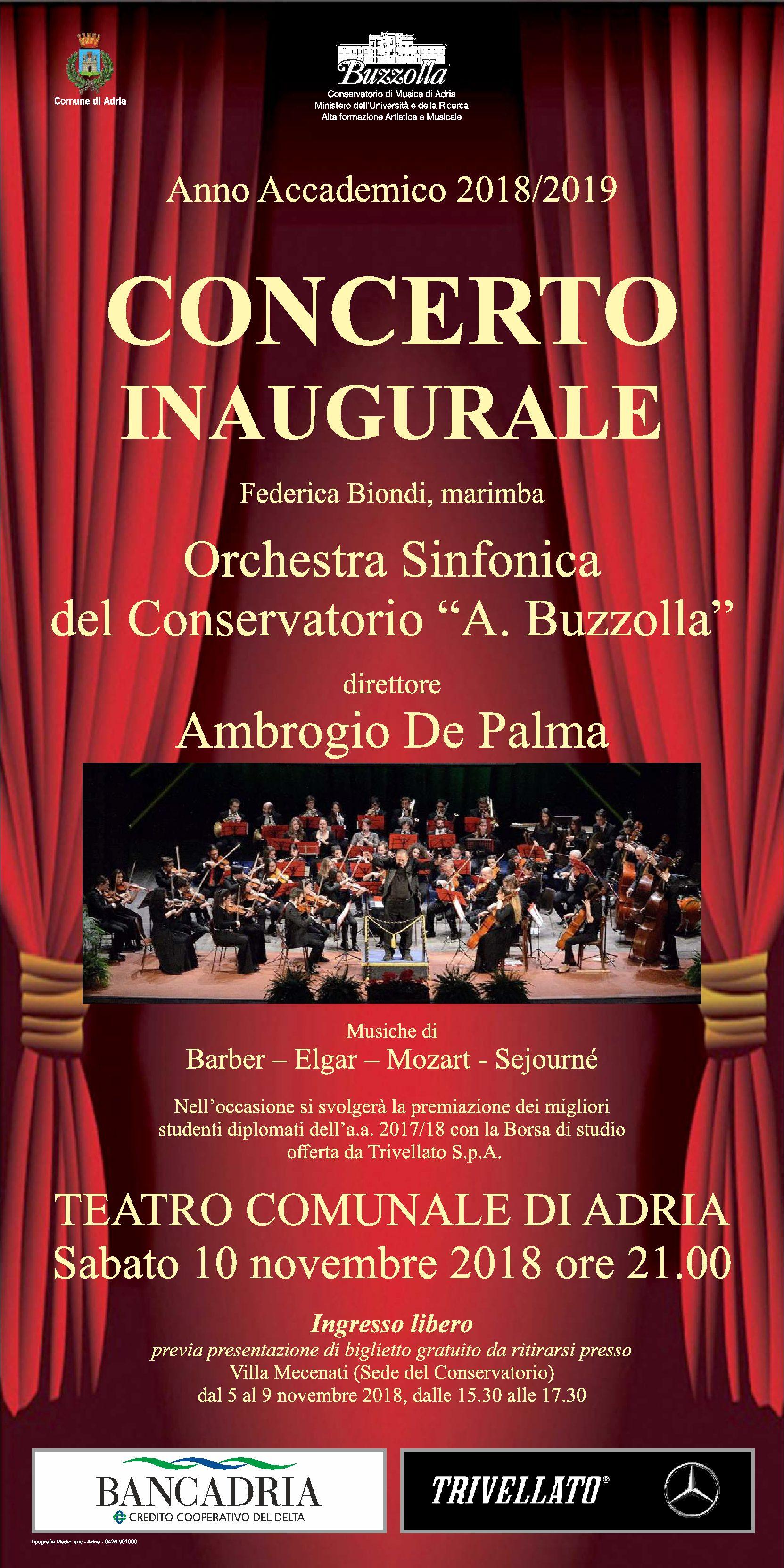 10 novembre 2018, ore 21.00 – Concerto Inaugurale A.A. 2018/2019