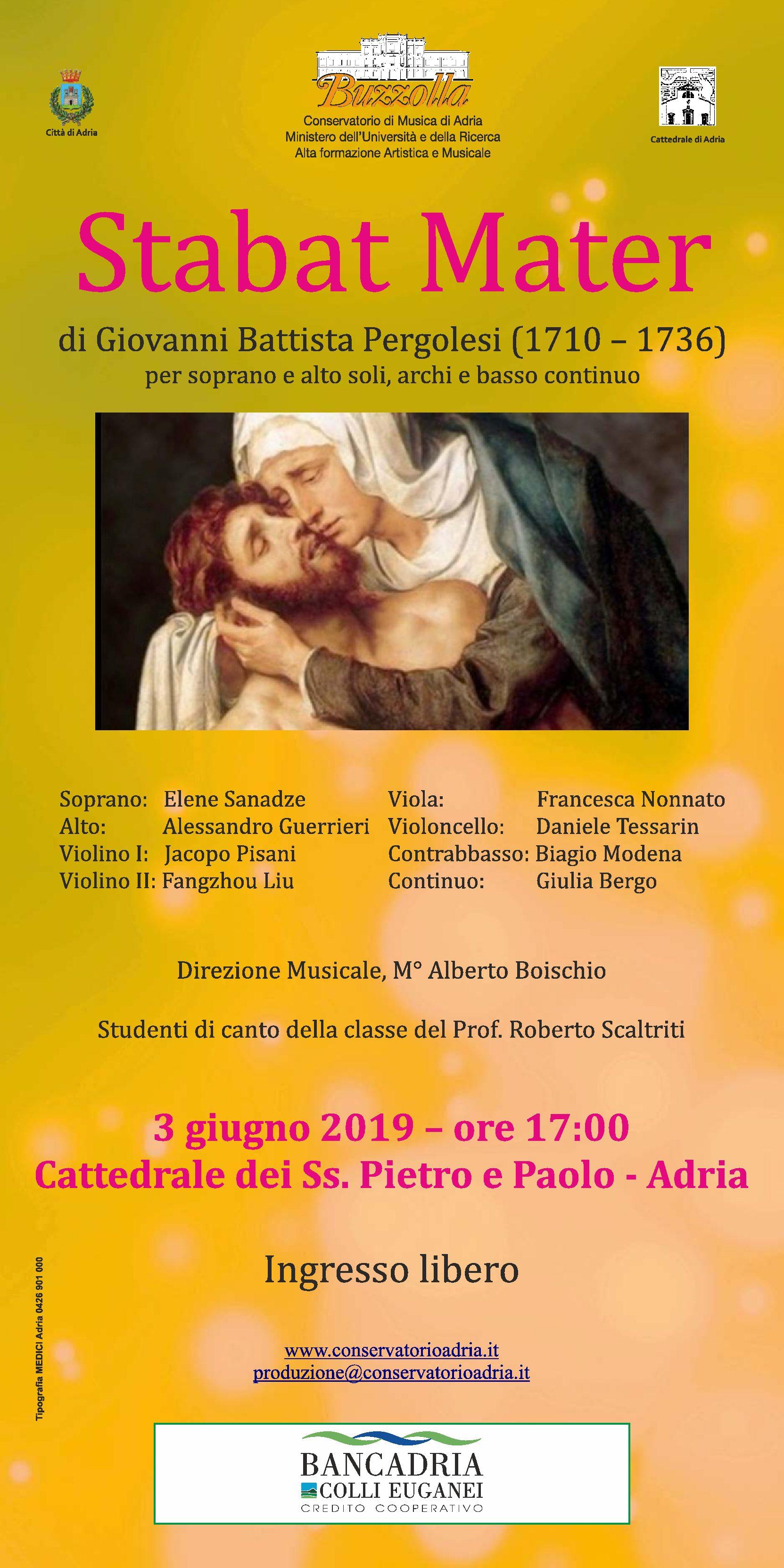 3 giugno 2019 ore 17.00 – Stabat Mater