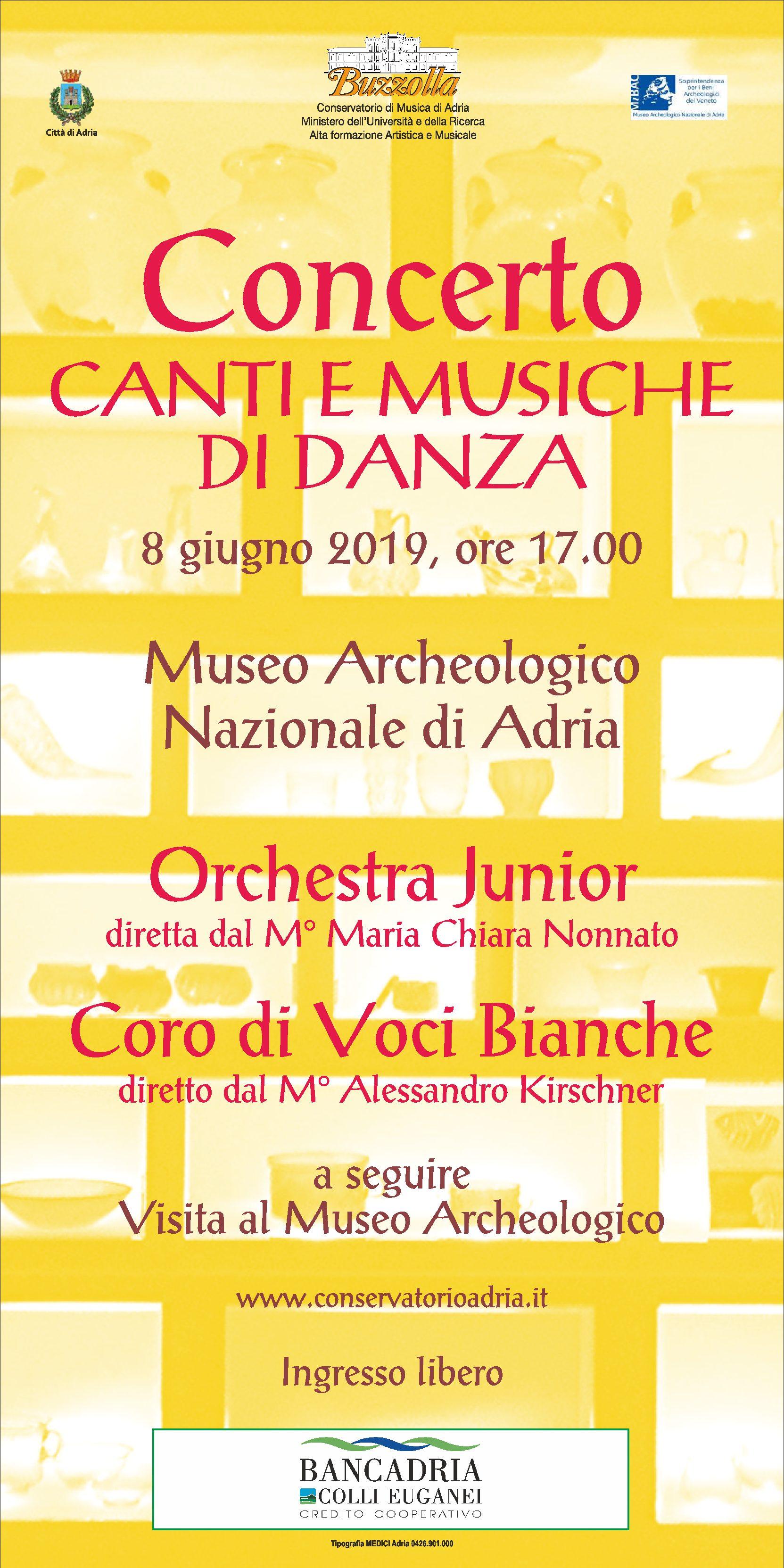 """8 giugno 2019 ore 17.00 – Concerto """"Canti e Musiche di danza"""""""