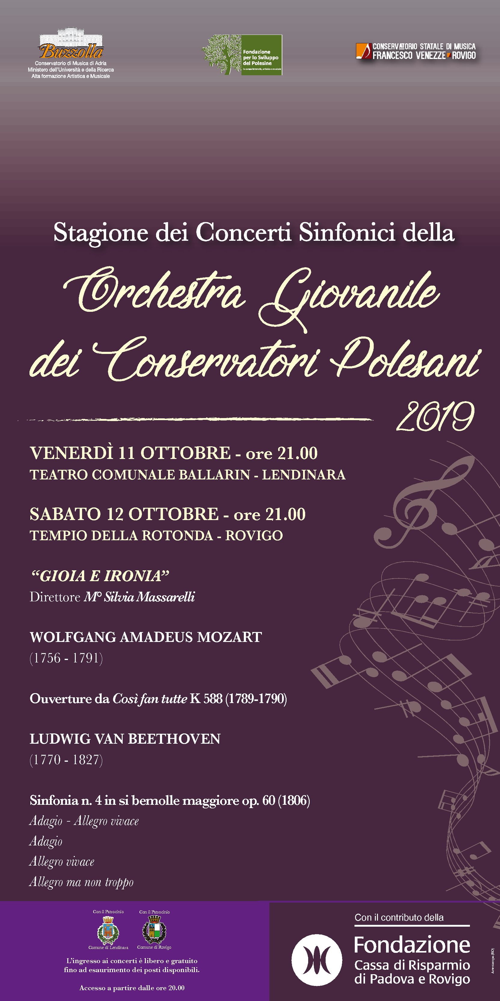 Concerti Orchestra Giovanile dei Conservatori Polesani