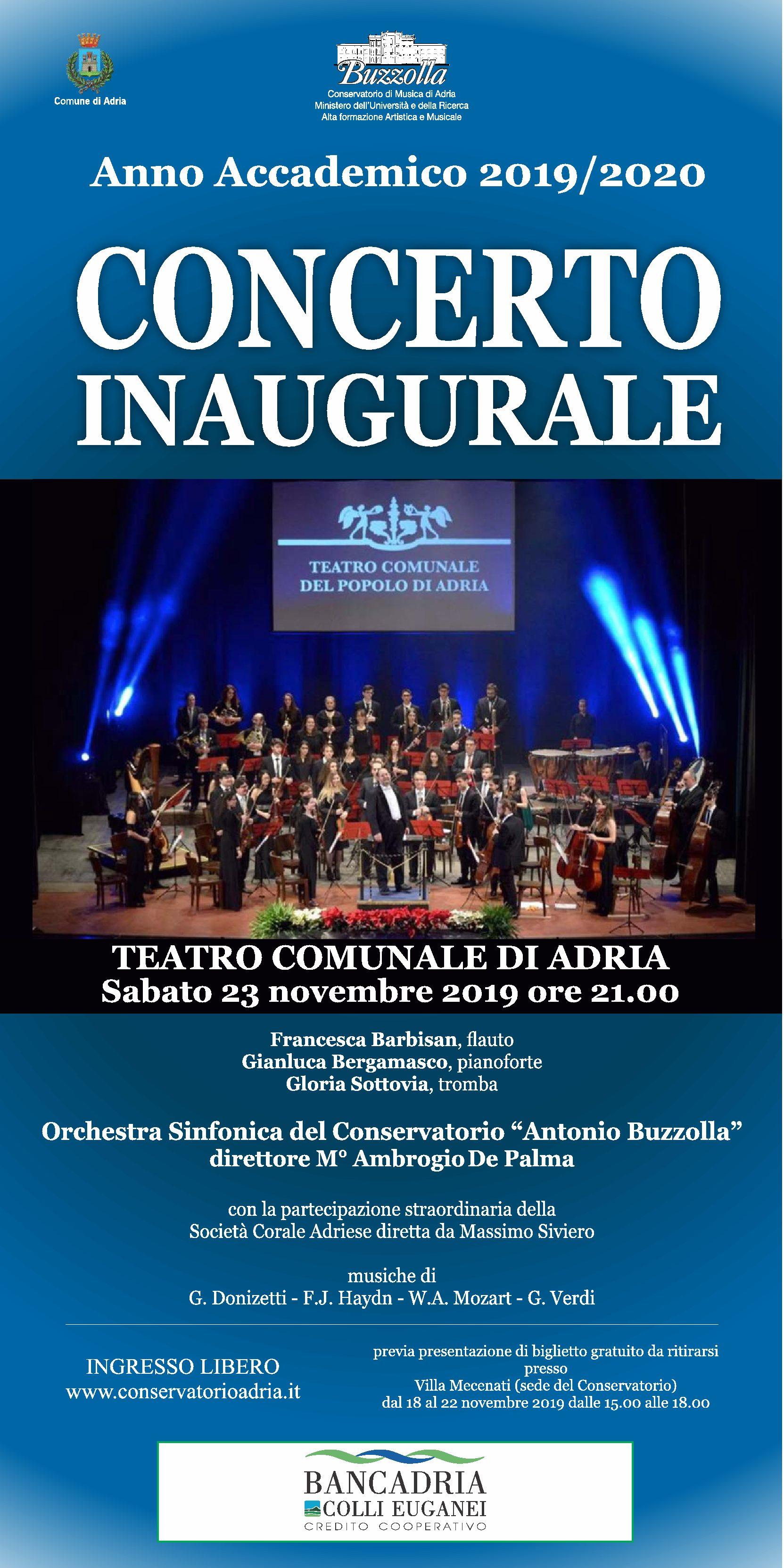 23 novembre 2019 ore 21.00 – Concerto Inaugurale A.A. 2019/20
