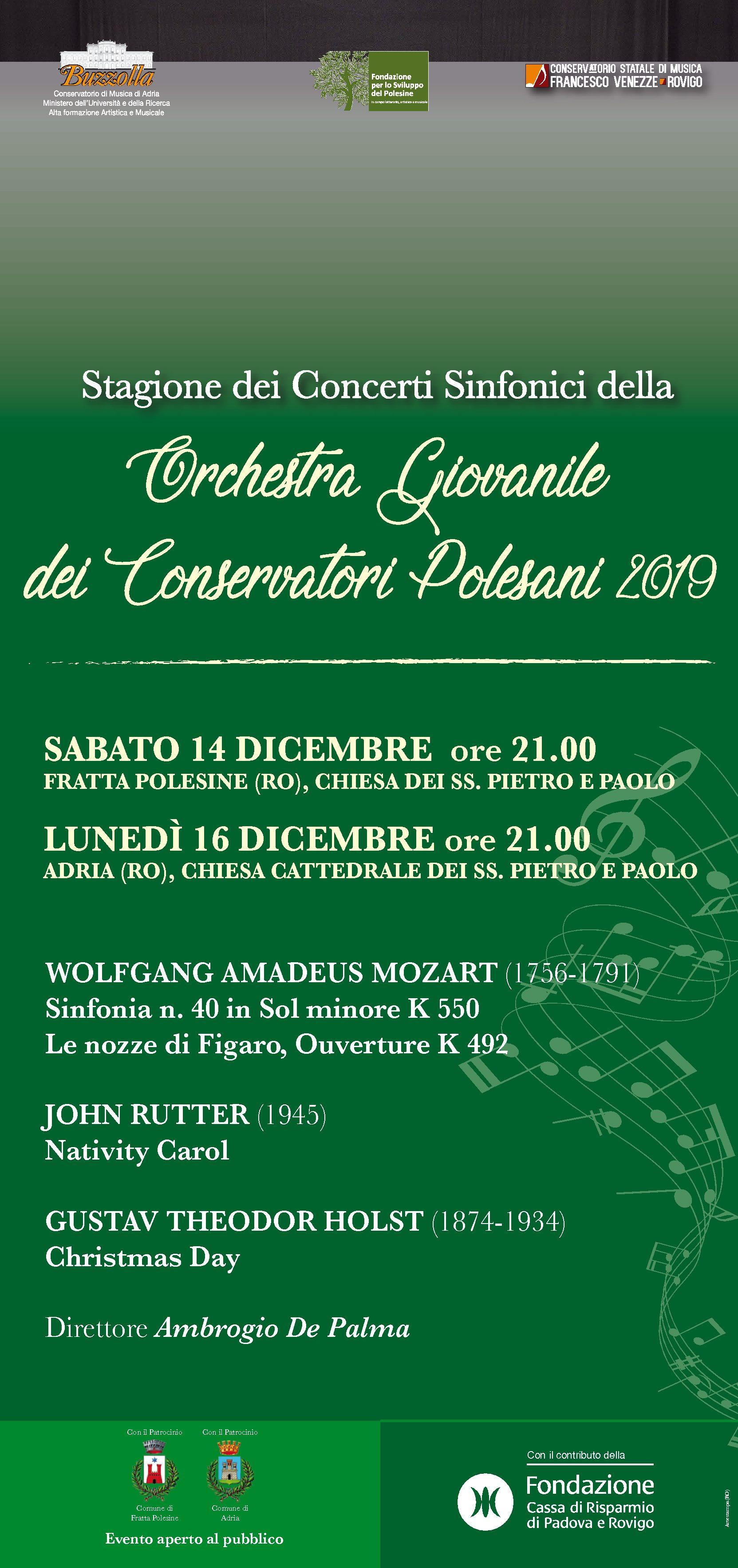 Orchestra Giovanile dei Conservatori Polesani – 14 e 16 dicembre 2019