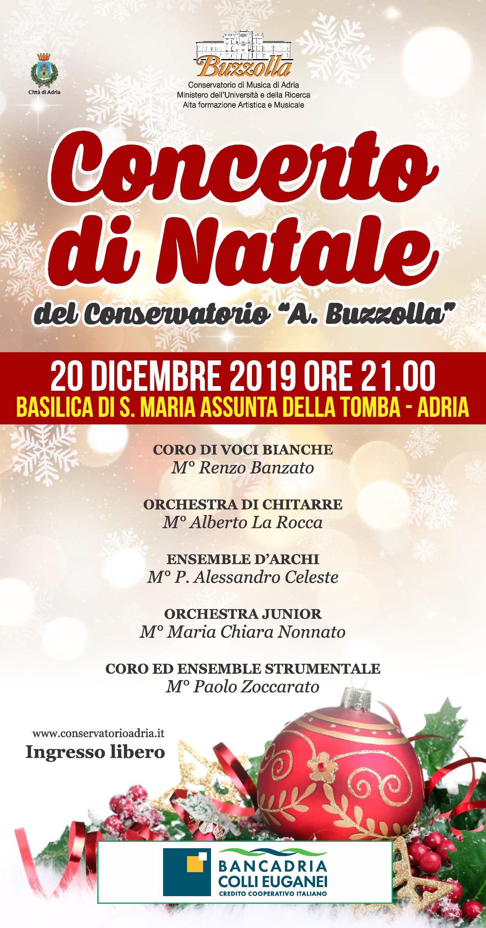 20 dicembre 2019 ore 21.00 – Concerto di Natale