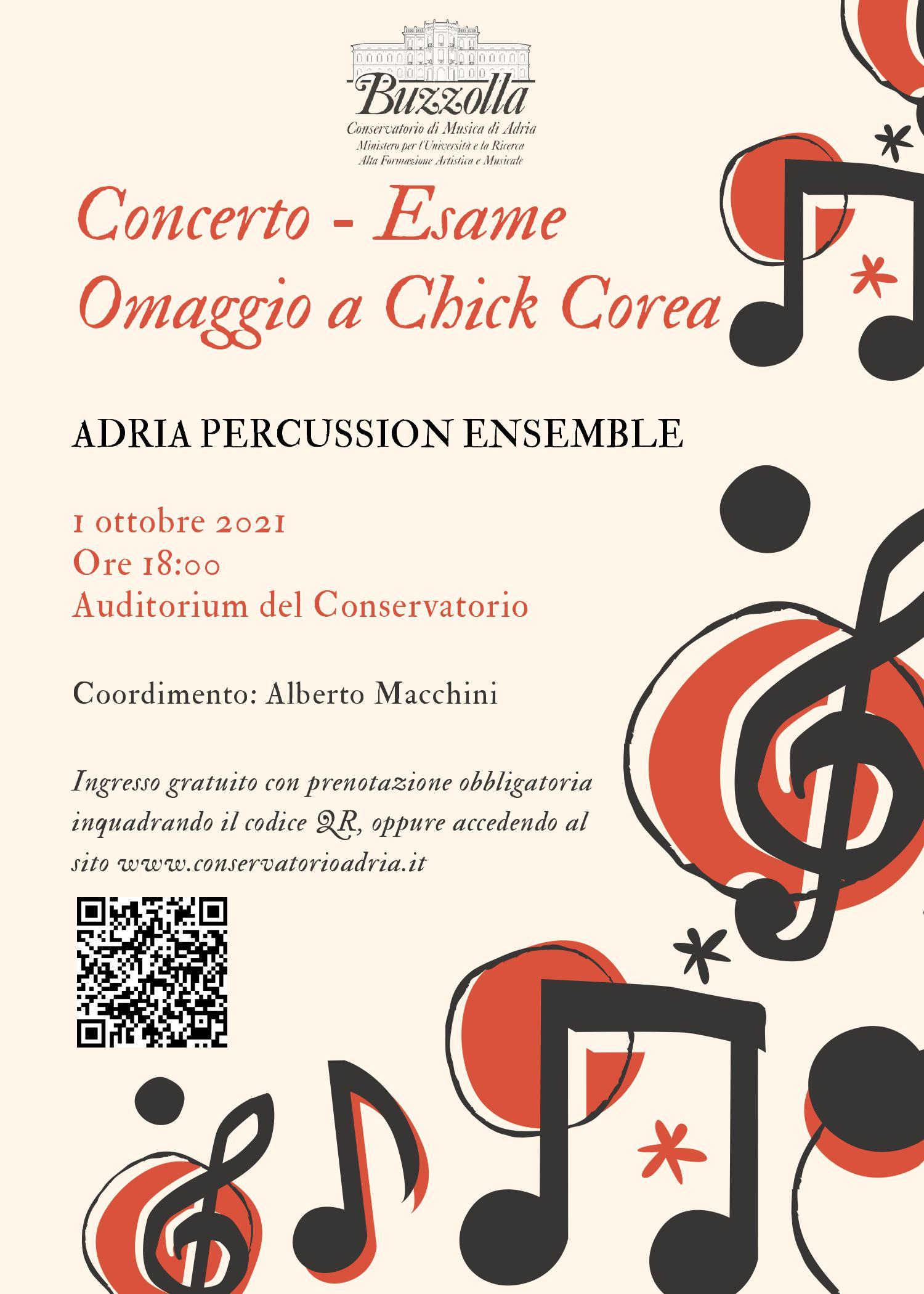 Concerto/Esame – Adria Percussion Ensemble – Omaggio a Chick Corea