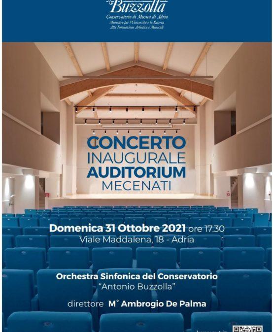 Concerto inaugurale auditorium – domenica 31 ottobre 2021